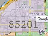 Mesa AZ 85201 Zip Code Map Arizona