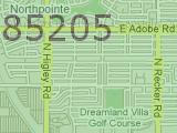 Mesa AZ 85205 Zip Code Map Arizona