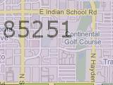 Scottsdale AZ 85251 Zip Code Map Arizona