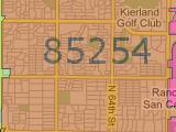 Scottsdale AZ 85254 Zip Code Map Arizona