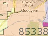 Goodyear AZ 85338 Zip Code Map Arizona