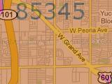 Peoria AZ 85345 Zip Code Map Arizona